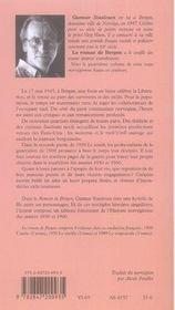 Le roman de bergen, 1950 le zénith t.2 - 4ème de couverture - Format classique