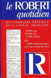 Le Robert Quotidien ; 10 E Edition - Intérieur - Format classique