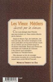 Vieux Metiers Illustres Par La Chanson - 4ème de couverture - Format classique