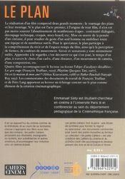 Le Plan Au Commencement Du Cinema - 4ème de couverture - Format classique