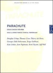 Parachute ; essais choisis 1975-1984 - Couverture - Format classique