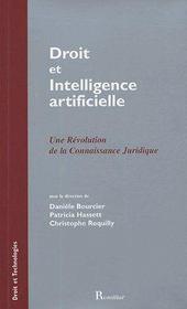 Droit et intelligence artificielle ; une révolution de la connaissance juridique - Couverture - Format classique