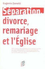 Separation, Divorce, Remariage Et L'Eglise - Intérieur - Format classique