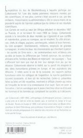 Carnet De Route Au Coeur De L Afrique - 4ème de couverture - Format classique