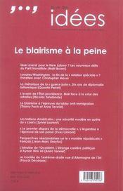 La vie des idées t.18 ; le blairisme à la peine - 4ème de couverture - Format classique