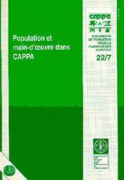 Population et main d'oeuvre dans cappa ; document de formation pour la planification agricole n.22-7 - Couverture - Format classique
