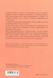 Le Patrimoine Litteraire Commun Des Europeens - 4ème de couverture - Format classique