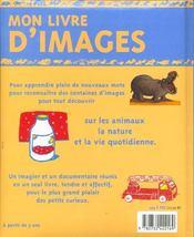 Mon Livre D'Images - 4ème de couverture - Format classique