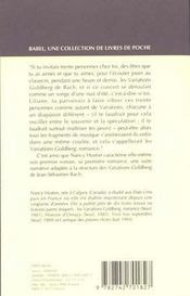 Les Variations Goldberg Babel 101 - 4ème de couverture - Format classique