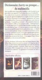 Dictionnaire Azerty Ou Presque Du Multimedia - 4ème de couverture - Format classique