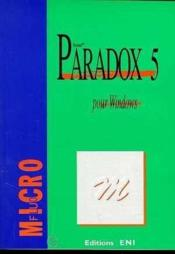 Vente  Paradox 5 pour windows  - Collectif