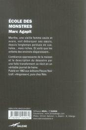 École des monstres - 4ème de couverture - Format classique