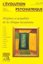 Revue Evolution Psychiatrique N.69 - Intérieur - Format classique