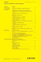 Revue Evolution Psychiatrique N.69 - 4ème de couverture - Format classique