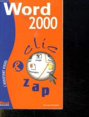 Clic Zap ; Word 2000 - Couverture - Format classique