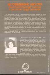Totalitarisme Sans Etat Essai D'Anthropologie ... - 4ème de couverture - Format classique