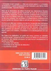 L'entreprise en profession liberale. guide juridique et pratique. mode d'emploi : creation, fonction - 4ème de couverture - Format classique
