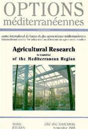 Agricultural research in countries of the mediterranean region ; options mediterraneennes - Couverture - Format classique