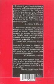 Le traducteur cleptomane - 4ème de couverture - Format classique