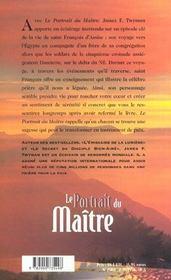 Le portrait du maître - 4ème de couverture - Format classique