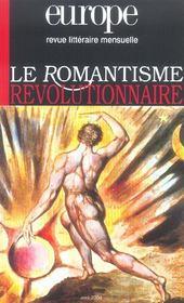 Revue Europe ; Europe ; Le Romantisme Révolutionnaire - Intérieur - Format classique
