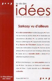 La vie des idées n.19 ; sarkozy vu d'ailleurs - Intérieur - Format classique