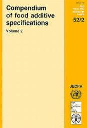 Compendium of food additive specifications t.2 ; joint fao-who expert committee on food additives - Couverture - Format classique