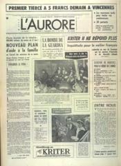Aurore (L') N°9739 du 31/12/1975 - Couverture - Format classique