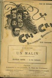 Le Cri-Cri, Bibliotheque Theatrale, Hebdomadaire. N°164. Marc Anfossi : Un Malin / Francois Coppee : Le Bon Lendemain. - Couverture - Format classique