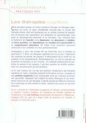 Les thérapies cognitives ; comment agir sur nos pensées et nos émotions ? - 4ème de couverture - Format classique