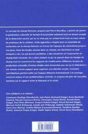 Le texte et le contexte. analyses du champ litteraire francais, 19e e t 20e siecle - 4ème de couverture - Format classique