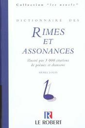 Dictionnaire Des Rimes Et Assonances - Intérieur - Format classique