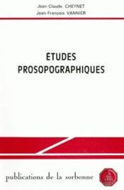 Études prosopographiques - Couverture - Format classique