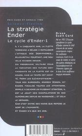 La Strategie Ender - Le Cycle D'Ender-1 - 4ème de couverture - Format classique