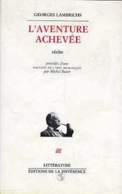 Aventure Achevee (L') - Couverture - Format classique