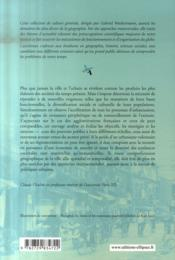 Les nouvelles politiques urbaines ; une géographie des villes - 4ème de couverture - Format classique