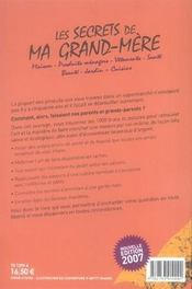 Les secrets de ma grand-mère (édition 2007) - 4ème de couverture - Format classique