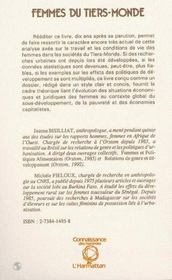 Femmes Du Tiers-Monde, Travail Et Quotidien - 4ème de couverture - Format classique