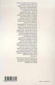 Charles gide, 1847-1932 ; l'esprit critique - 4ème de couverture - Format classique