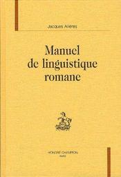 Manuel De Linguistique Romane - Intérieur - Format classique