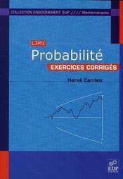 Exercices de probabilité - Intérieur - Format classique