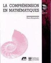 La Comprehension En Mathematiques - Couverture - Format classique