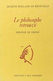 Le Philosophe Retrouve - Couverture - Format classique