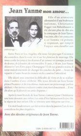 Jean yanne mon amour - 4ème de couverture - Format classique