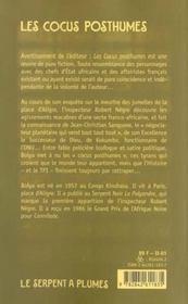 Cocus Posthumes - 4ème de couverture - Format classique