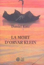 La Mort D'Orvar Klein - Intérieur - Format classique