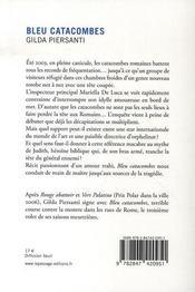 Bleu catacombes - 4ème de couverture - Format classique