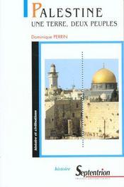Palestine Une Terre Deux Peuples - Intérieur - Format classique