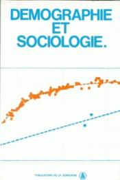 Démographie et sociologie - Couverture - Format classique