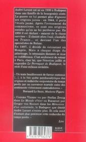 Le perroquet de budapest - 4ème de couverture - Format classique